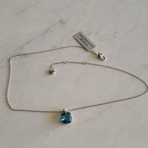NWT Brighton Silver Lovable Denim Blue necklace